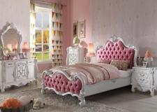 princess bedroom set acme versailles 6 pieces full pink princess youth bed set furniture 30645f LZOISDB