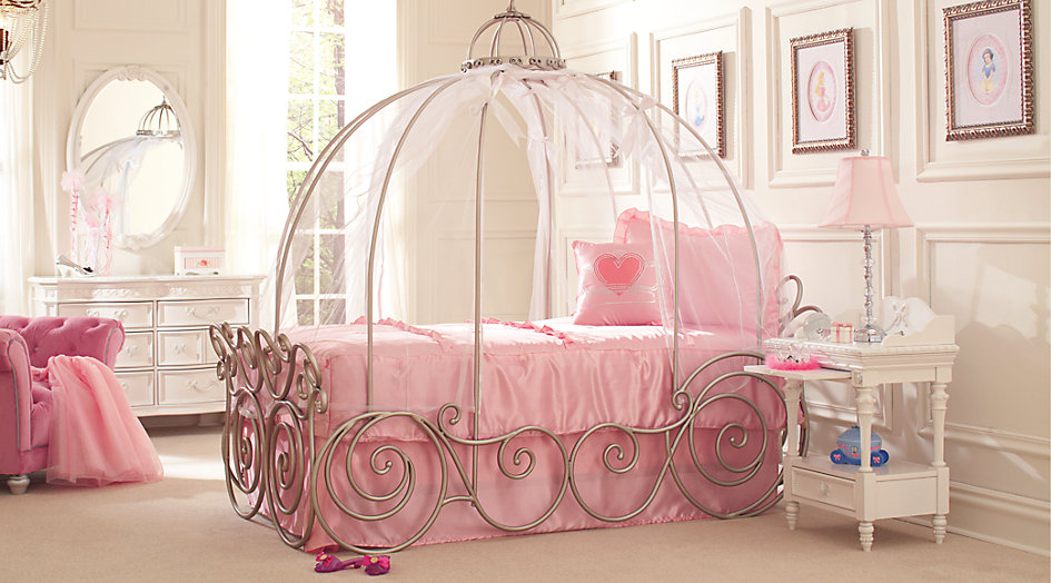 Princess Bedroom Set Disney Princess White 6-Piece Double Bedroom Bedroom - Disney Princess Metal BGCLSMW