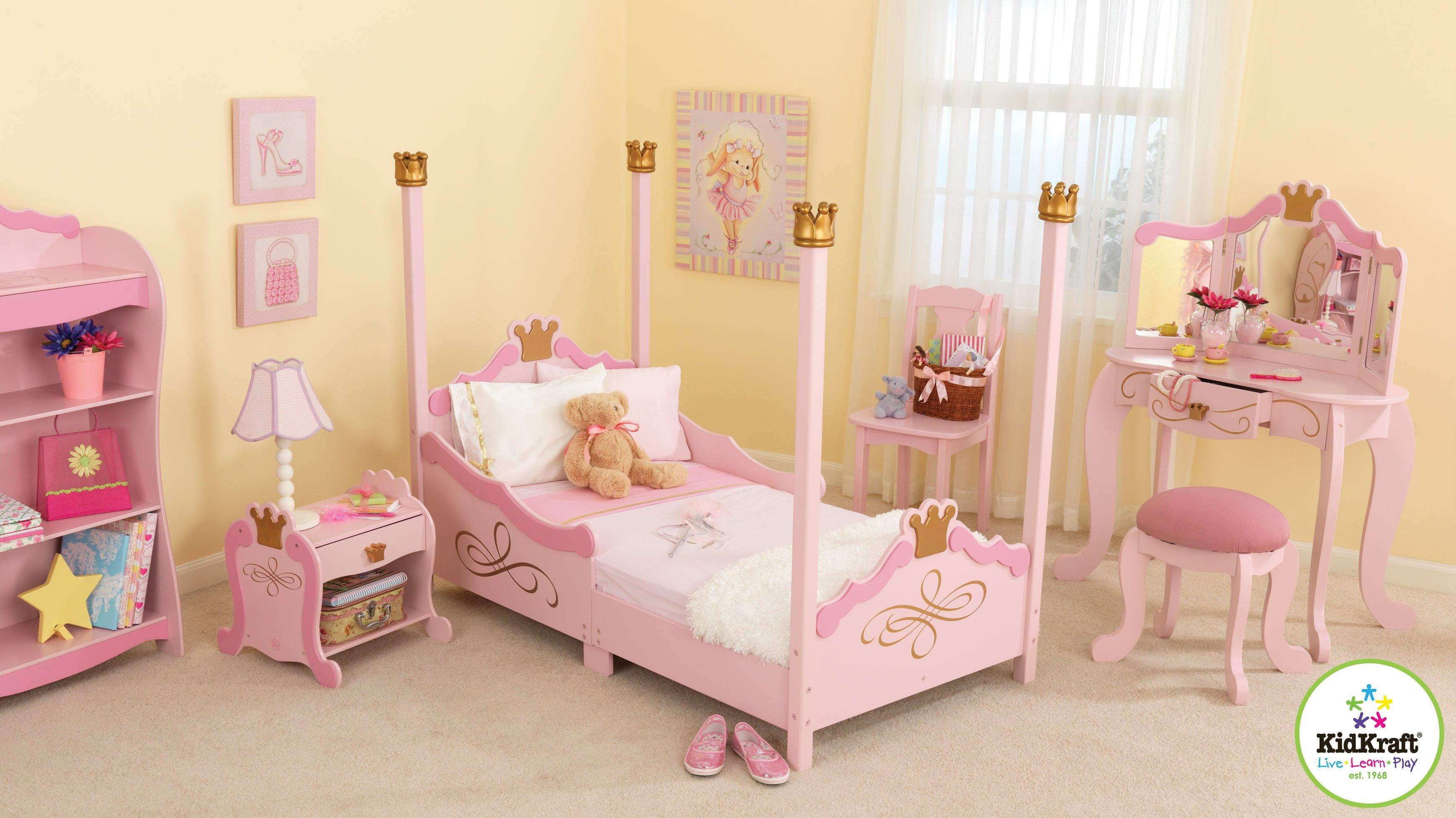 princess bedroom set kidkraft princess toddler sky configurable bedroom set & Reviews |  VVUFFWN