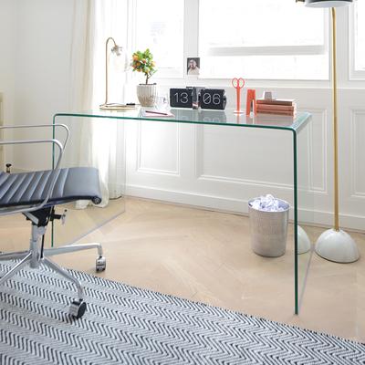 puro glass desk clear LTDHYVE