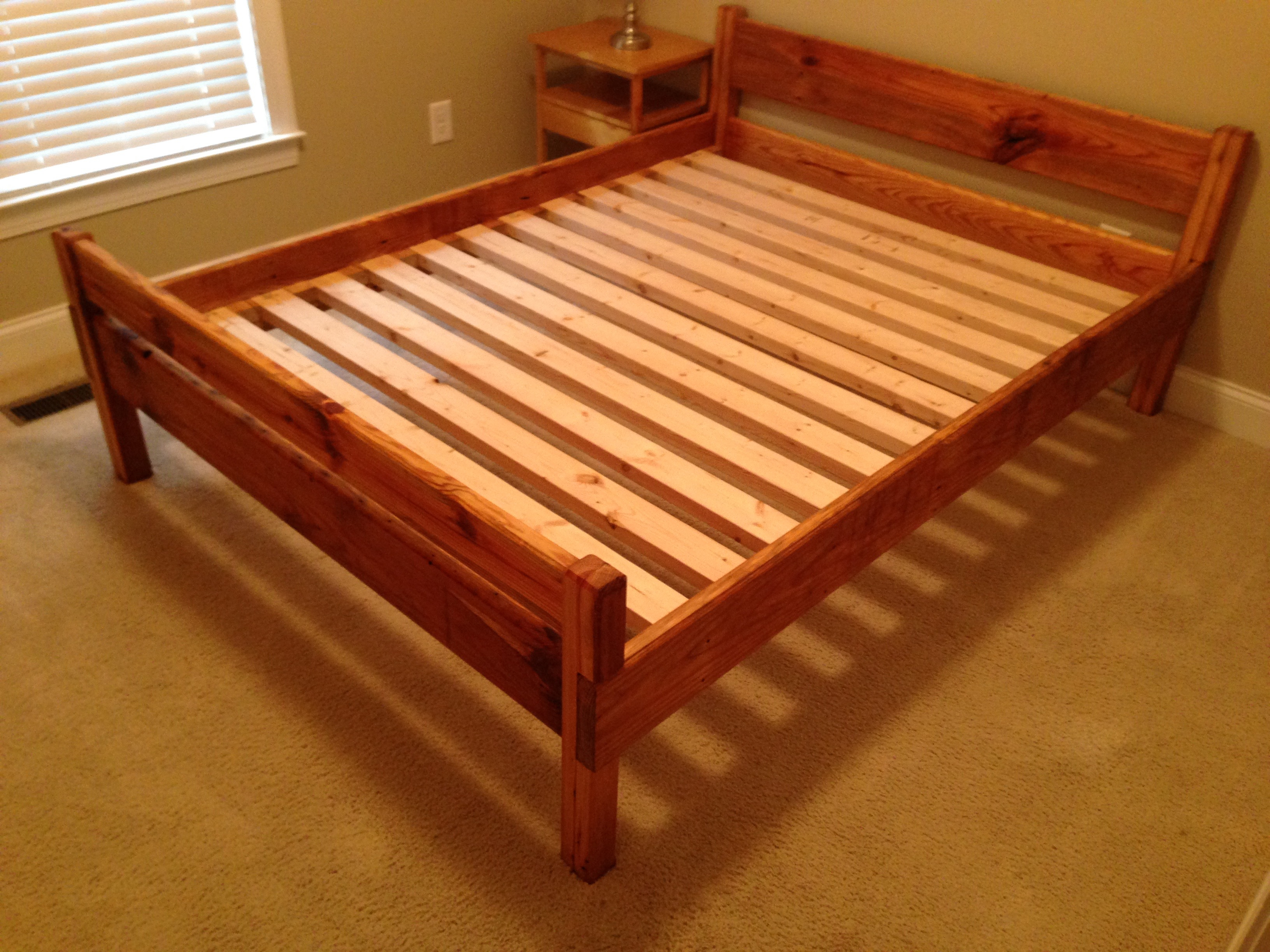 Queen-size bed frame floor attractive bed frame for Queen 18 Picture of the plans free loft ZLAWTSX