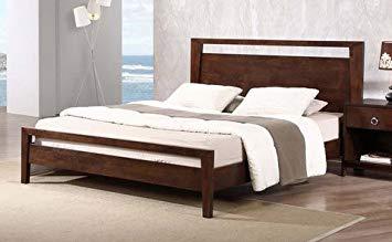 Queen-size bed frame Kota modern queen-size solid wood platform bed frame YRHIQJD
