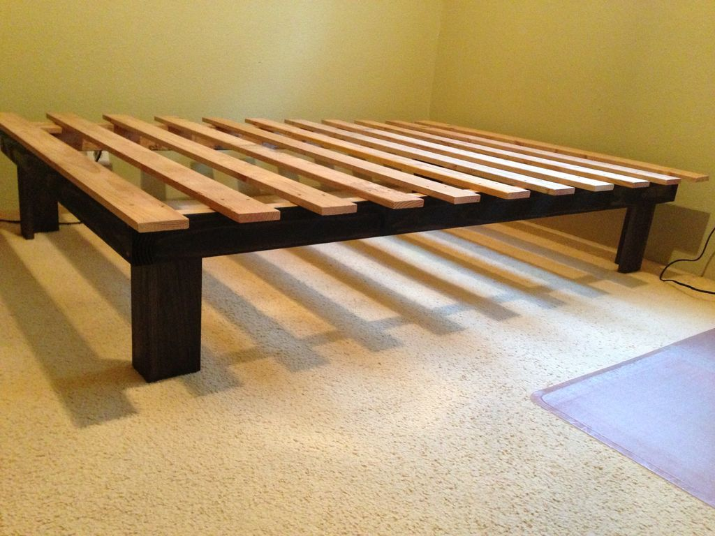 Queen Bed Frame Make your own platform bed for $ 30 - easy!  ABBTGKU