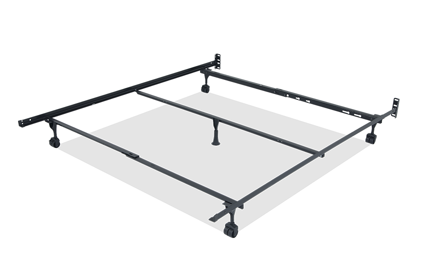 Double bed frame with castors AJUJNWZ