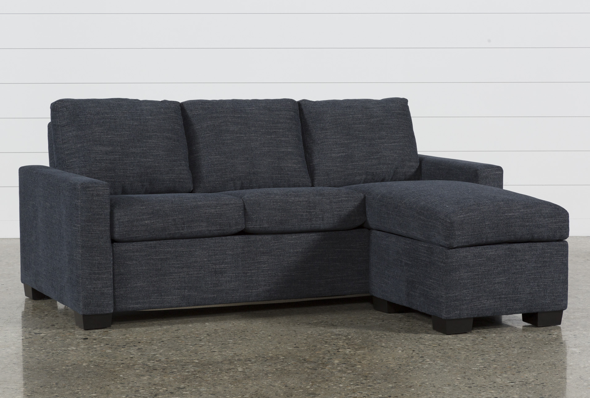 Queen sleeper sofa Mackenzie Denim Queen plus sleeper sofa with storage space GBXBQYH