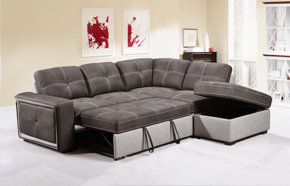 Corner sofa in quinto gray RATYKBR fabric