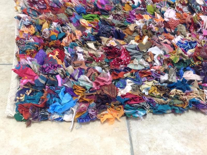 Rag rugs Example of a colorful rag rug.  CNNRGEB
