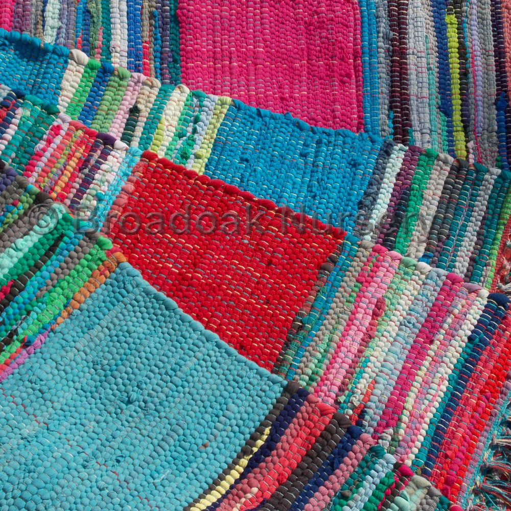 Rag rugs Fair Trade Indian rag rug 3u0027x5u0027 in Mexican style - recycled, 100% DBQDDPM
