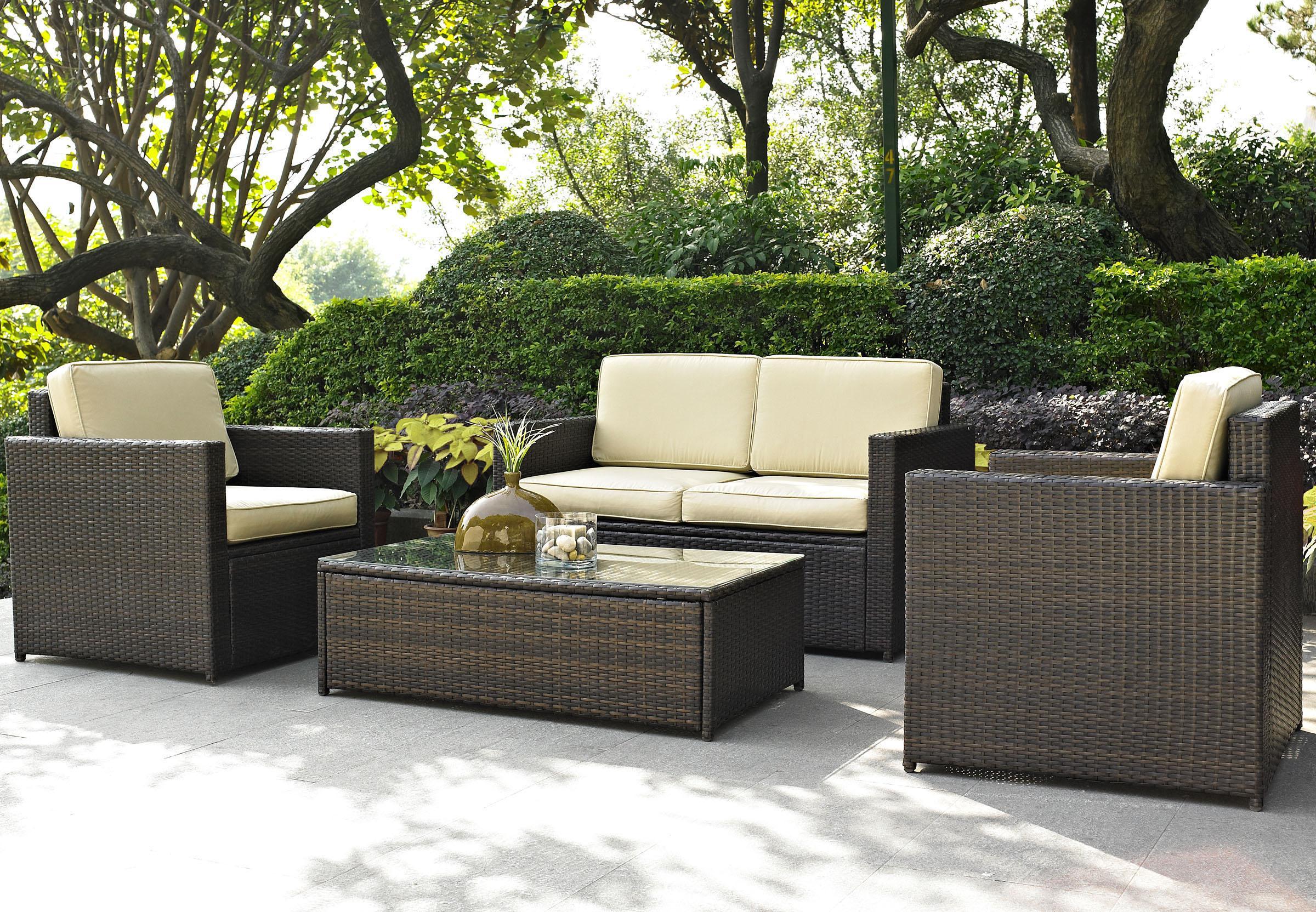 Full size rattan garden furniture for the garden round rattan garden furniture sets outdoor rattan QUDSKAN