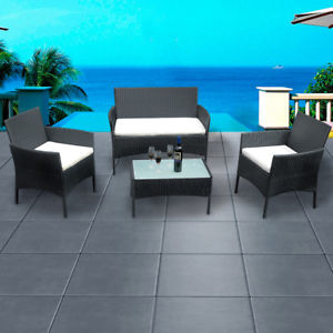 rattan garden furniture image is loading 4-piece-rattan-garden furniture-winter garden-sofa-PAIXCFE