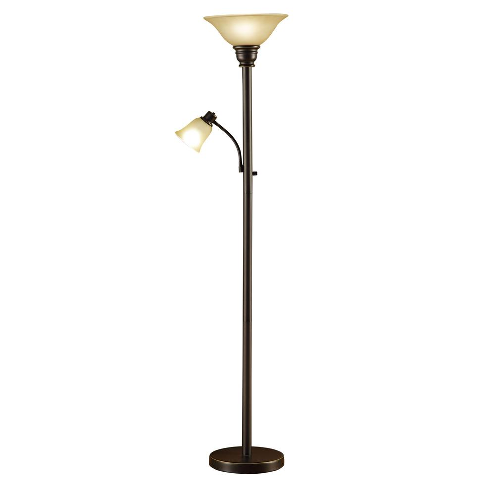 Reading lamps oil rubbed bronze Torchiere floor lamp with adjustable reading light NTACTEO