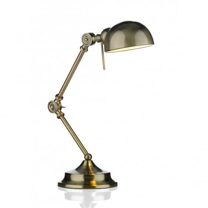 Reading lamps Ranger antique brass adjustable desk or reading lamp ZZJOFDL