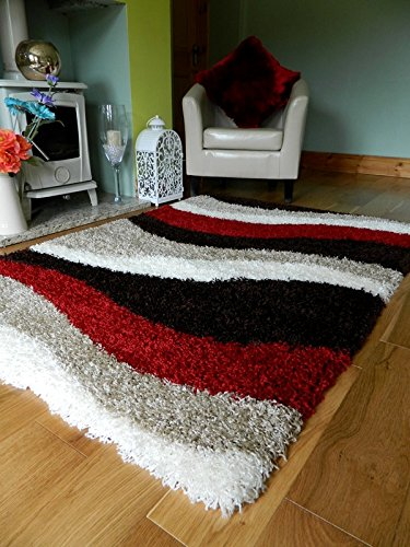 red brown cream shaggy carpets new small large thick 5cm pile height JBGGFDY