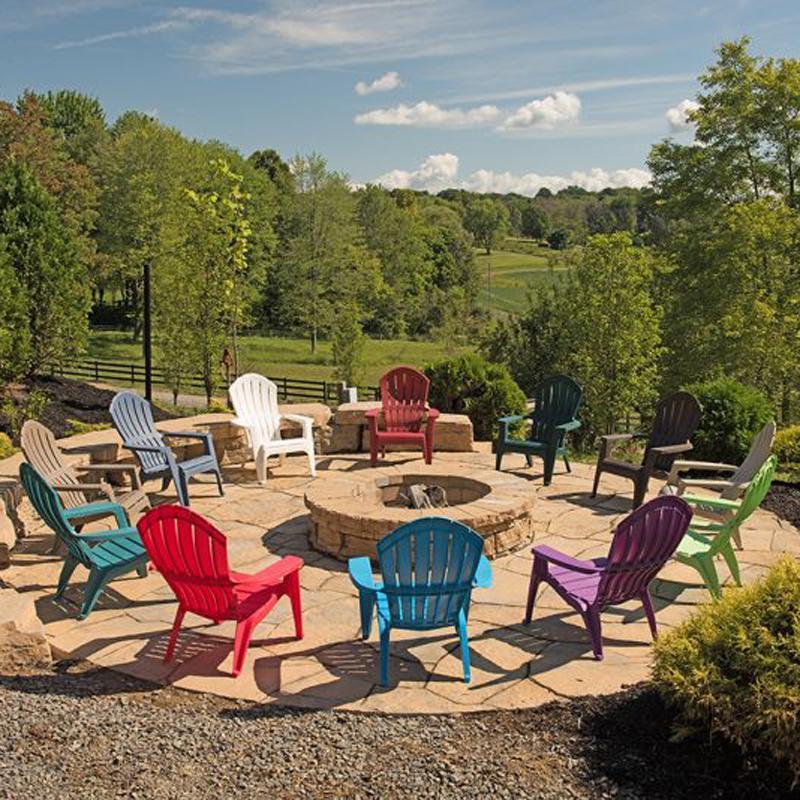 Real comfort Adirondack chairs stacking in resin LMNFGEB