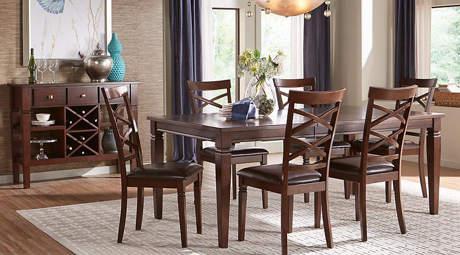 Riverdale cherry 5 pcs.  rectangular dining room - dining room sets dark TVTFIOG