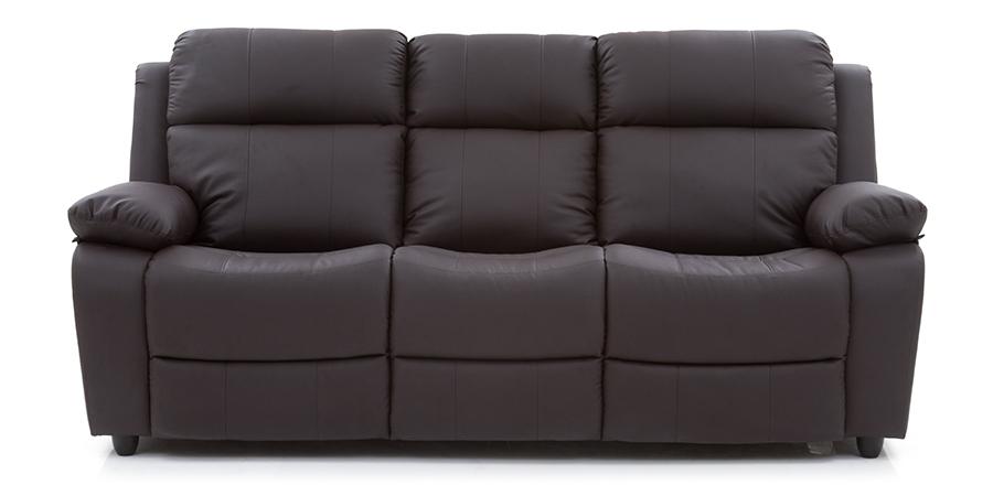 robert sofa bed set (chocolate brown synthetic leather) (chocolate brown, synthetic leather sofa JVRPBHR
