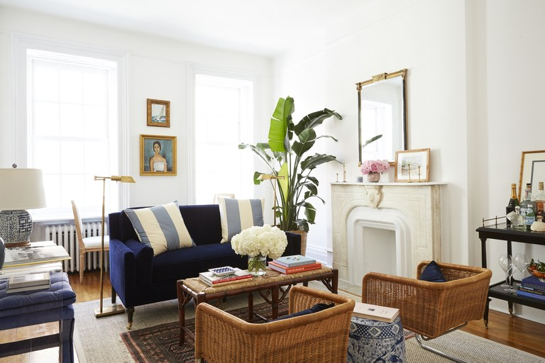 room furniture amy stoneu0027s brooklyn living room with wicker chairs and a small LQKLTOQ