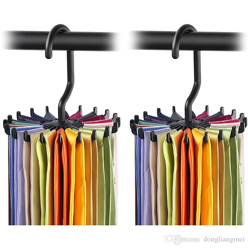 rotatable tie rack organizer hanger closet organizer hanging storage scarf rack YJMOLCG