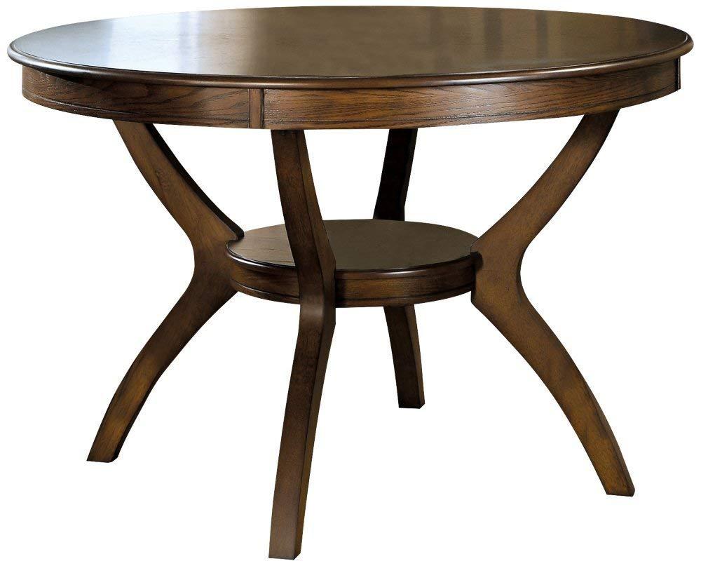 round dining table amazon.com - coasters furnishings nelms classic modern transitional round dining room CQOJBNM