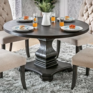 round dining table furniture from america lucena antique black wood traditional farmhouse style pedestal round