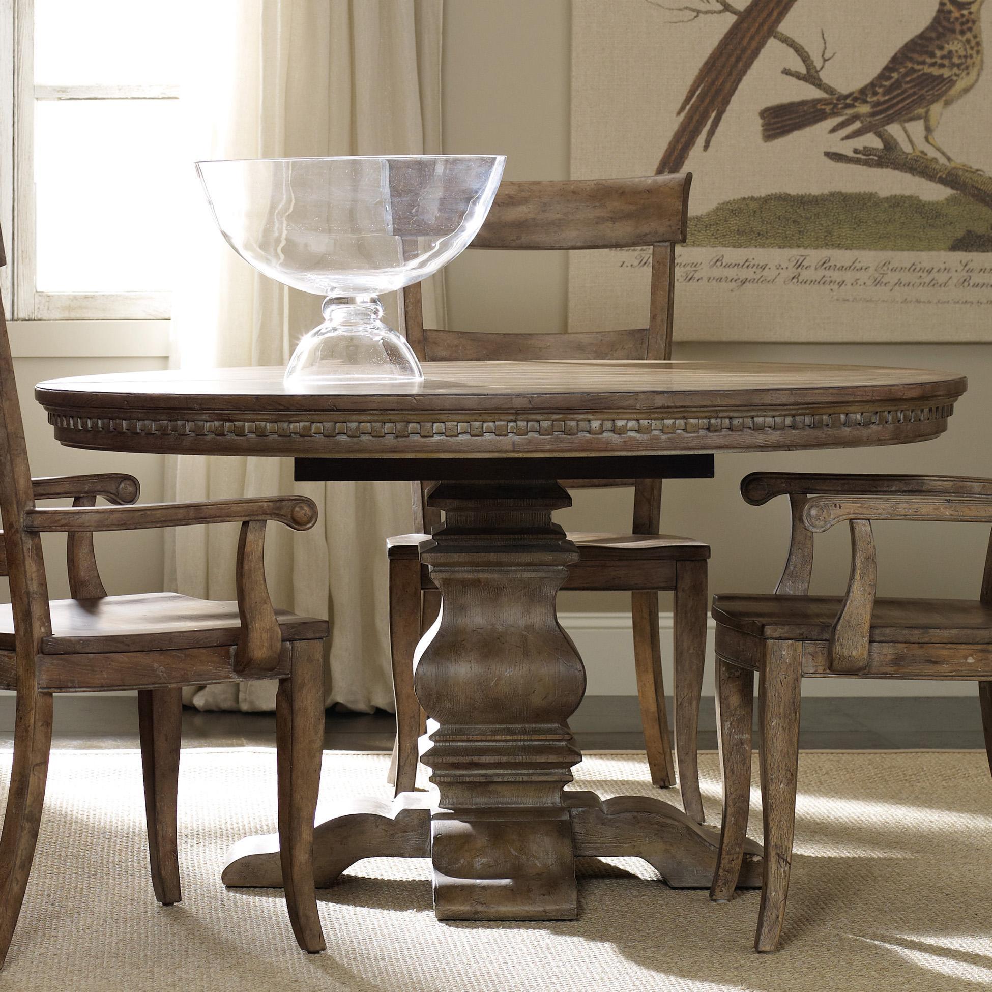 round dining table Hooker Furniture Sorella base dining table - item number: 5107-75203 KUWKBDK