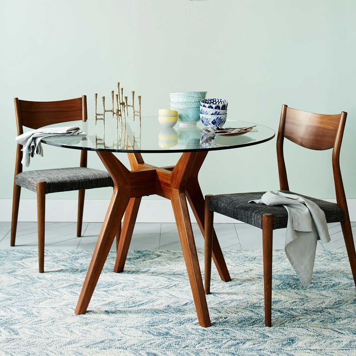 round dining table jensen round dining table made of glass    Western elm HASFQOT
