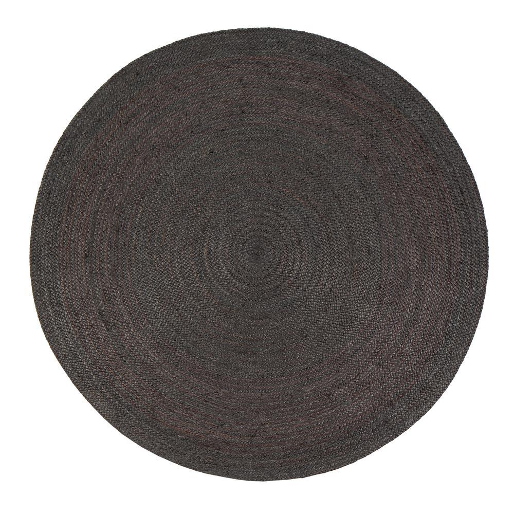 round jute rug anji mountain kerala gray 6 ft. x 6 ft. jute round surface IFREZPR