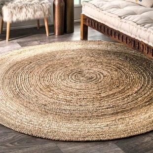 round jute rug Latham Rigo jute hand-woven light brown rug AJHJYUF