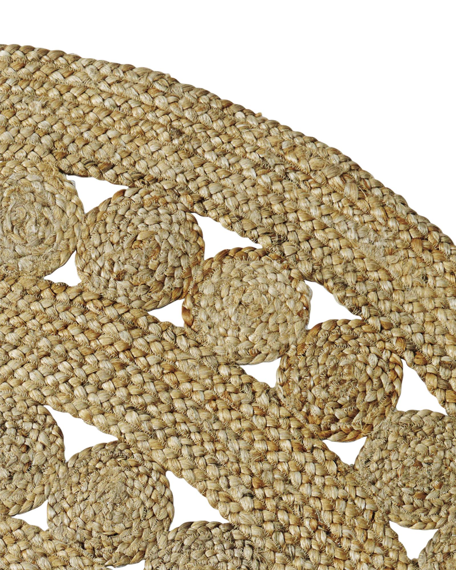 Round jute carpet pattern, RPKHVON