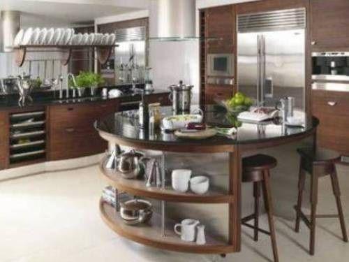 Modern round kitchen island interesting ideas    Round kitchen.