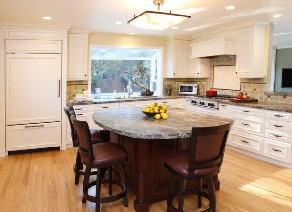 37 multifunctional kitchen islands with seating    Round kitchen.