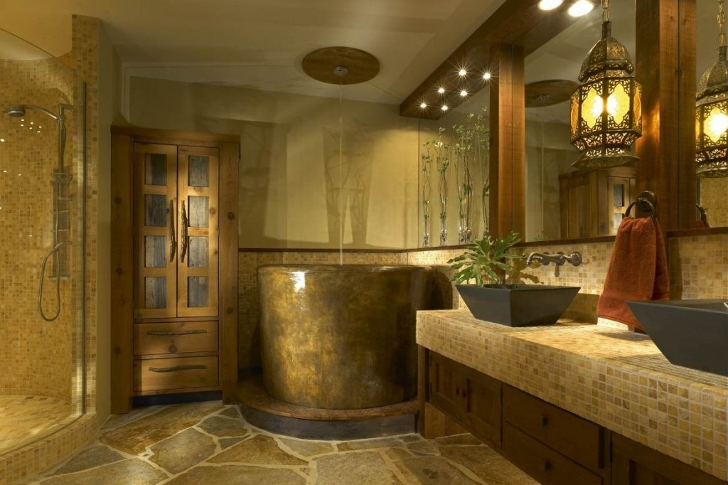 rustic bathroom decors image MXNEYHE