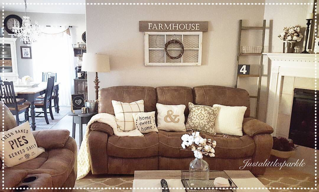 rustic brown living room living room, rustic family room, farmhouse, ladder RRJHOYR