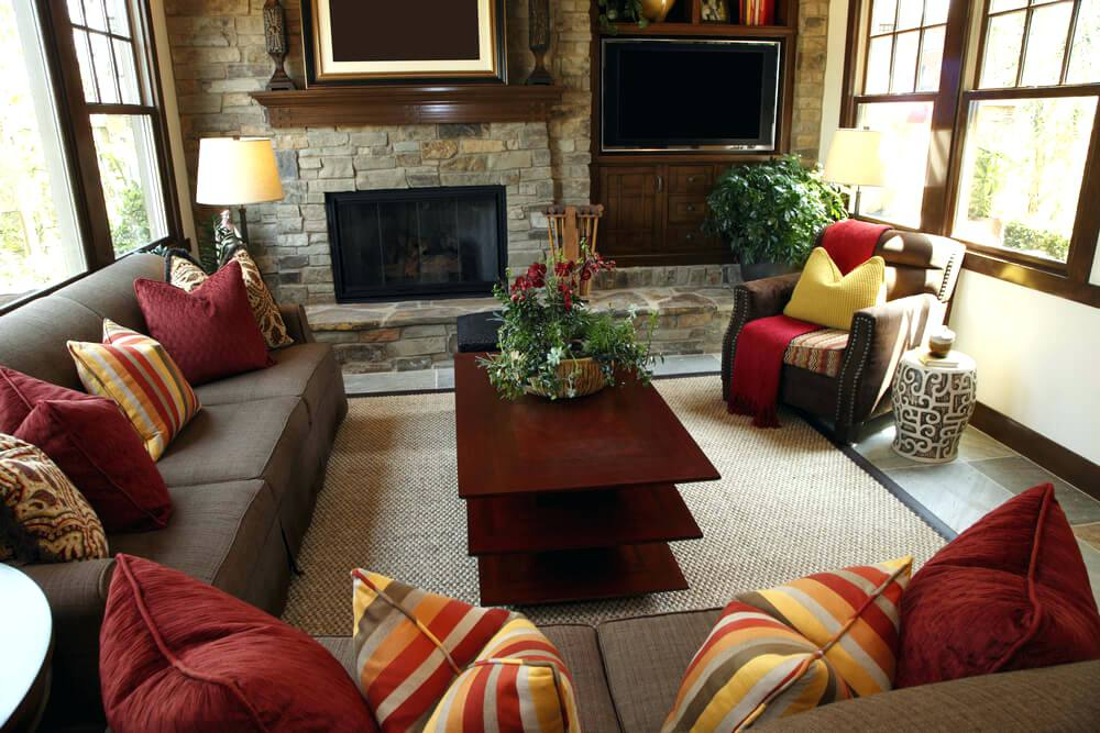 rustic brown living room