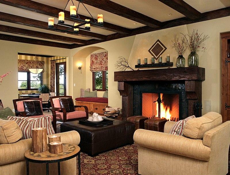 rustic brown living room small rustic living room VOYKYLN