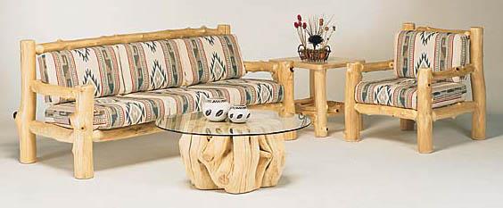 rustic wooden furniture aspen sofa table # 551.  Juniper coffee table # j101 aspen side table # 200.  RZVHFQI