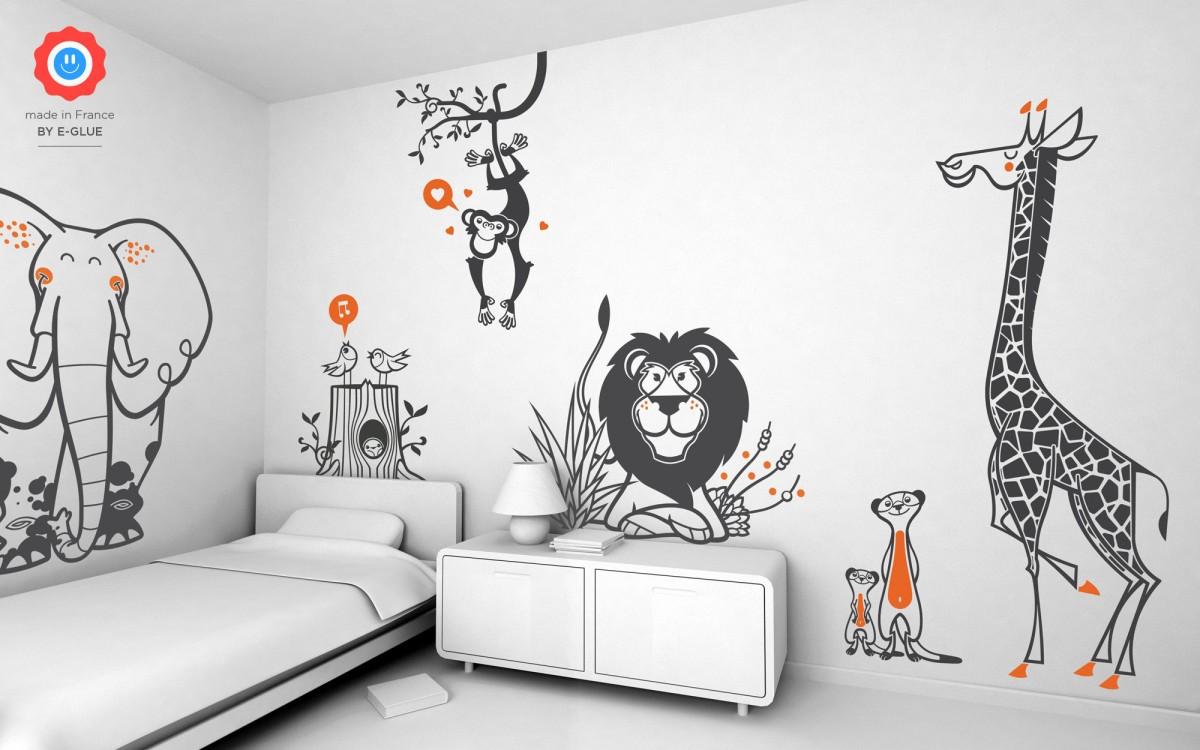 Safari kids wall stickers KXFJRRV