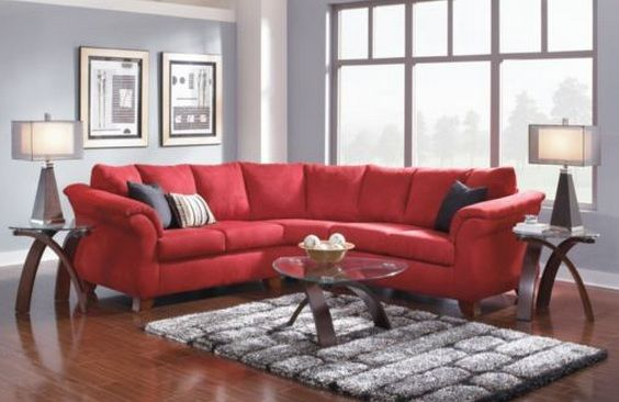great basement idea ..... maybe.  |  Red sofa living room, living.