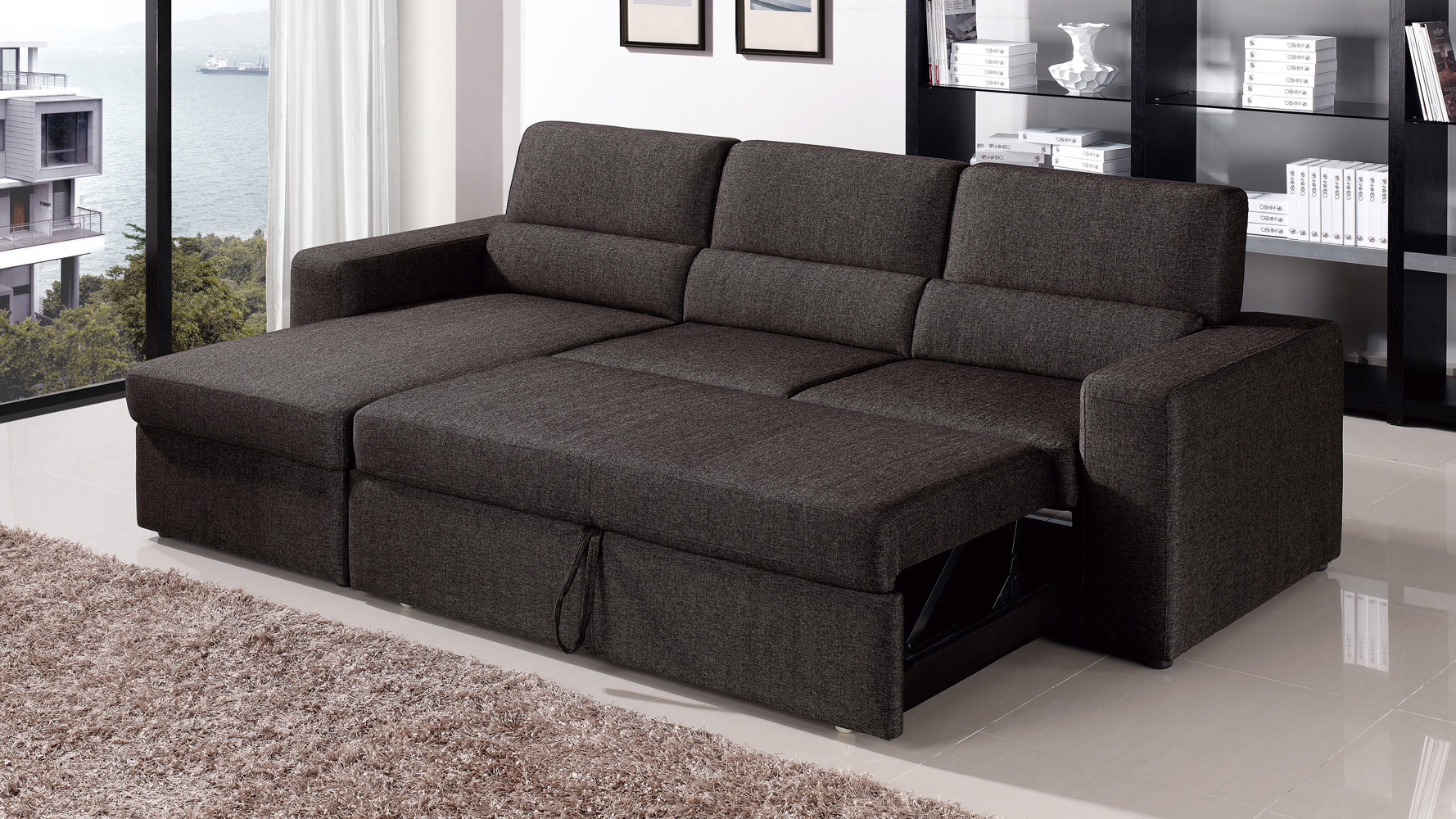 Full-size sectional sofa bed: Lazy Boy leather sofa beds Leather sofa beds EPIBPLB