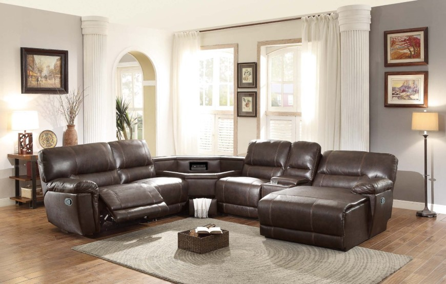 Sectional sofas with loungers 8Brown-armchair-share-with-table-console-in-middle NQBFUCK