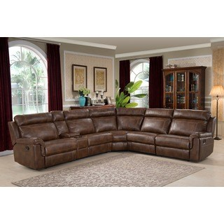 Sectional sofas with relaxing armchairs nicole brown large 6-part family portion with 3 relaxing armchairs, cup holder, CAPXVZQ
