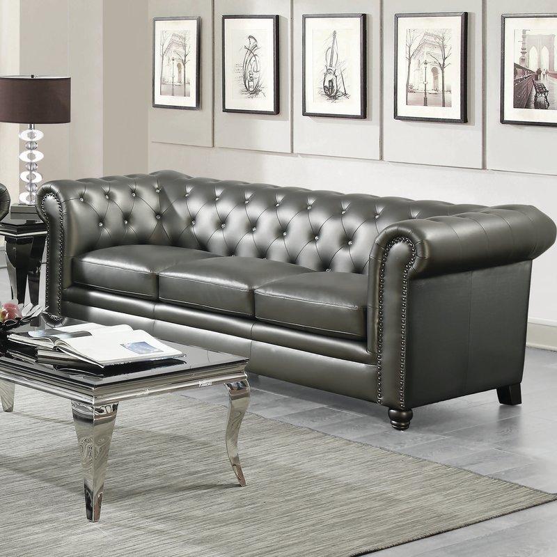 seevers leather Chesterfield sofa JRTWKLJ