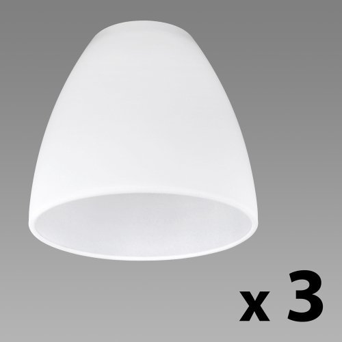 Set of 3 - beautiful replacement shades made of white frosted glass CCLKPWA