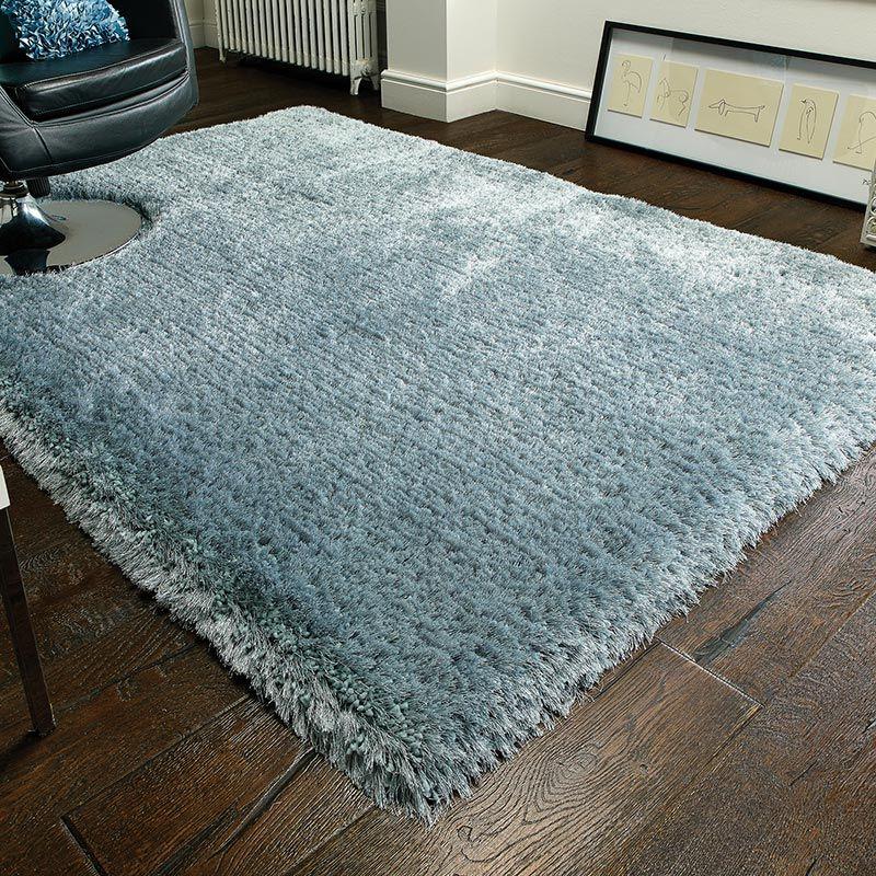 Shaggy rug, pearl shaggy rug, duck egg QKYYPYV