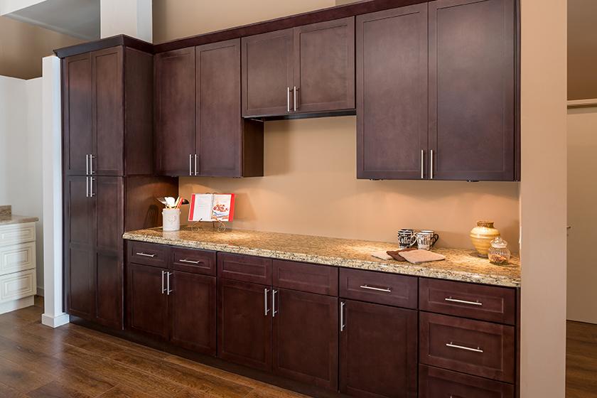 Shaker espresso kitchen cabinets IKSLYUT