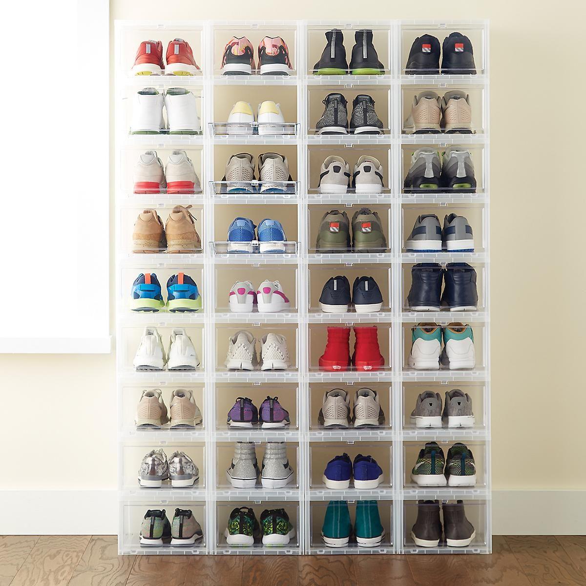 Shoe storage $ 8 open shoe drawers https://www.containerstore.com/s/closet/shoe-storage / bins-boxes / mens-drop-front-shoe-box / 123d? Productid-11006294 AIBFSAQ