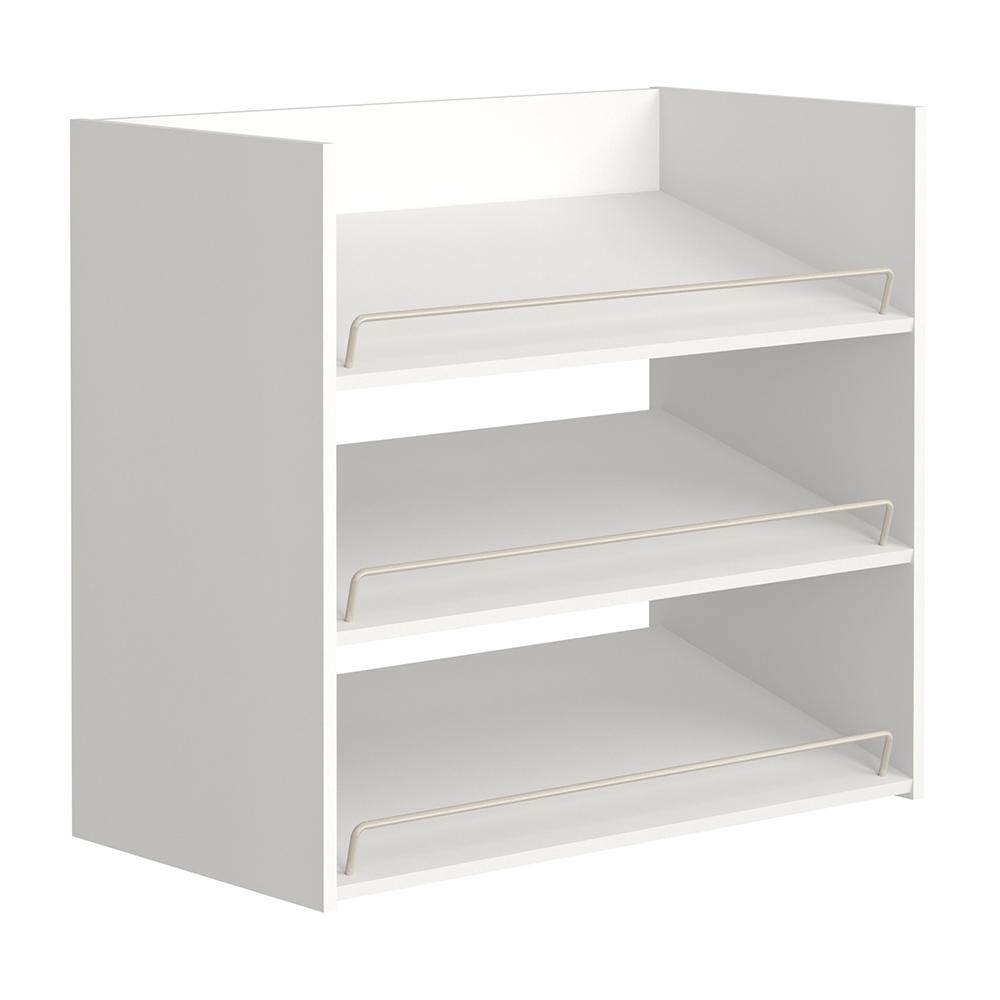 Shoe storage cabinet maid Impressionen 3-compartment white shoe organizer GPMVFDF