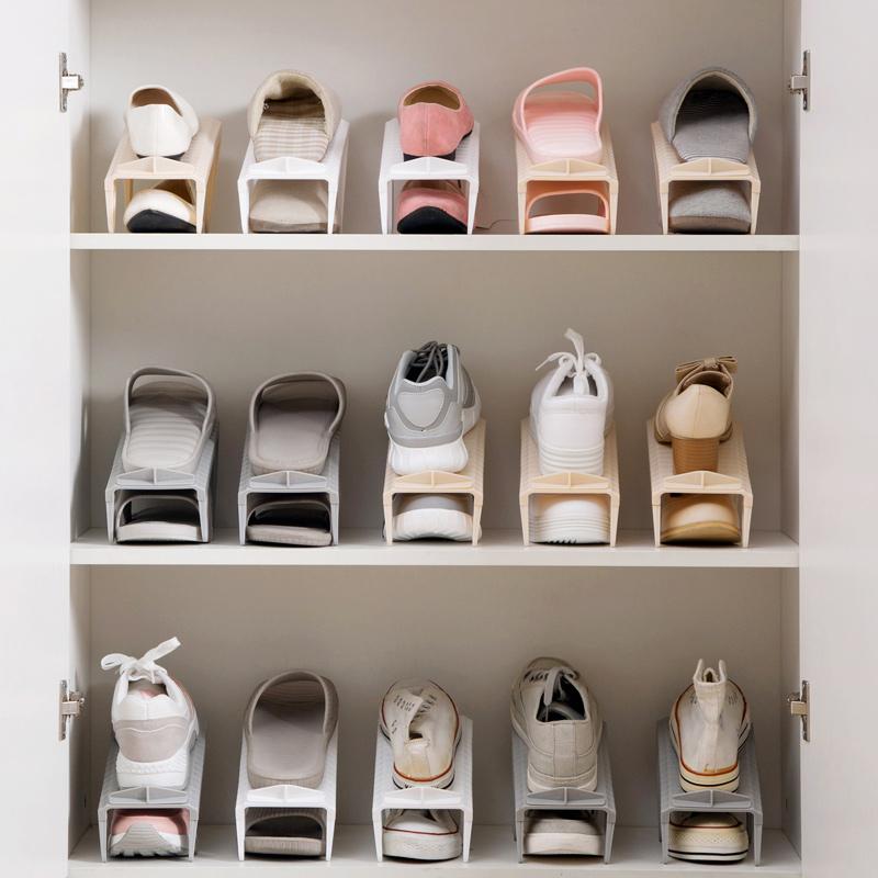 Shoe storage home double shoe storage home plastic single shoe support province OIWFZNL