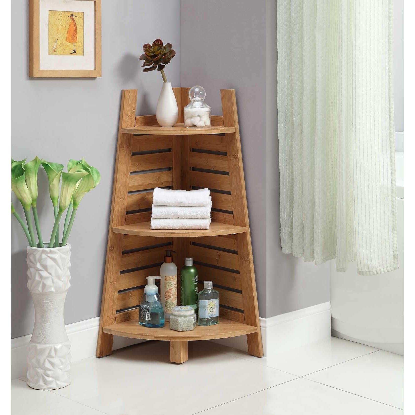 Buy Bracken Bamboo Corner Shelf - On Sale - Free Shipping Today LCYDHRZ