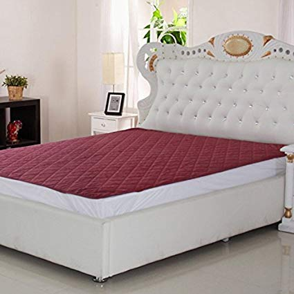 Signature double bed waterproof and dustproof mattress protector (72x78-inch, maroon) CRZWOUP